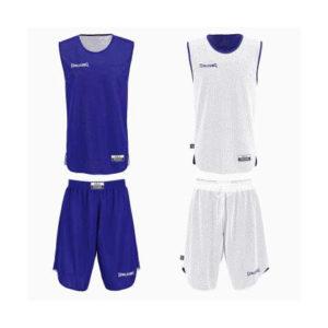 Double Face Kit Reversible Junior Spalding Bleu Blanc