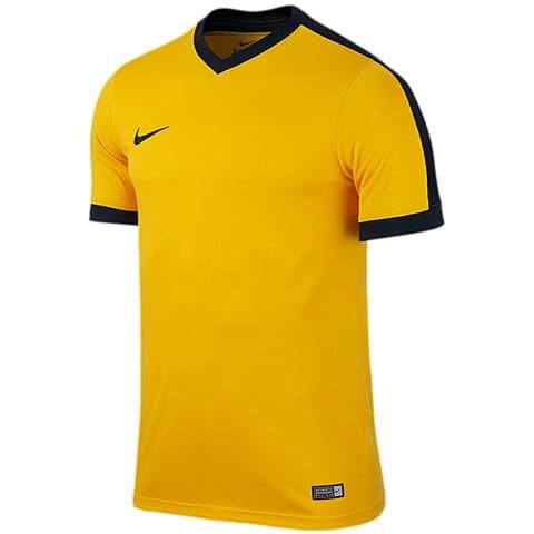 maillot nike striker manches courtes jaune noir adulte 725892