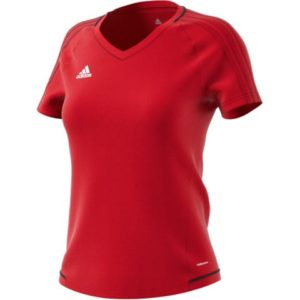 Maillot entrainement Tiro 17 Femme Adidas Rouge Blanc BP8560