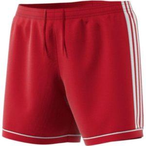 Short Squadra 17 Femme Adidas rouge blanc BK4779