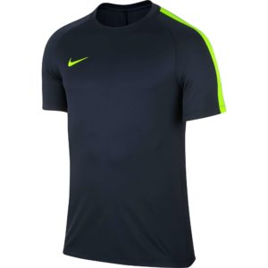 maillot-entrainement-nike-training-top-squad-17-manches-courtes-pour-homme-831567-451-marine jaune fluo