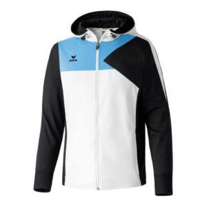 Veste à capuche Premium One Erima Blanc Cyan 107430