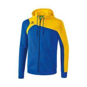 Veste d'entraînement à capuche Club 1900 20 Erima Bleu royal Jaune 1070709