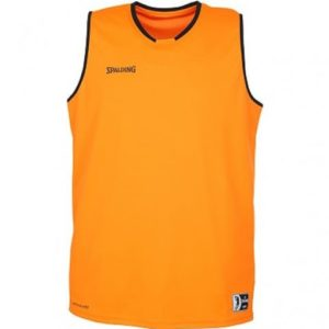 Maillot Move Tank Top Orange Noir Spalding