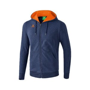 Veste sweat Graffic 5-C avec capuche Erima Marine Orange 2070702