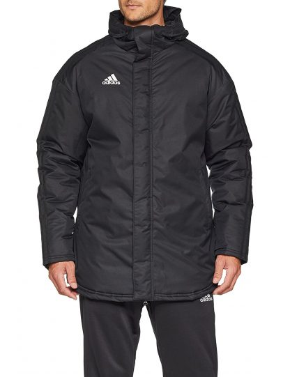 Parka Stadium Adidas Condivo 18 Noir Blanc BQ6594 fermé