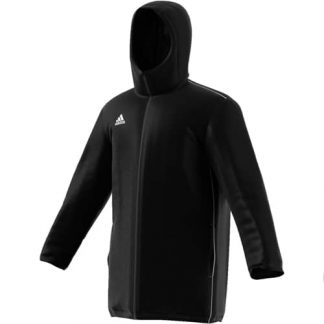parka-adidas-Stadium Core 18 Noir Blanc CE9057