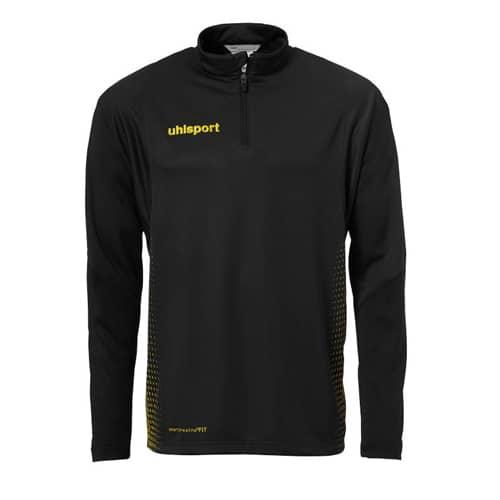 Uhlsport SCORE 1/4 ZIP - T-shirt de sport - black/white Sz33AF1pMD