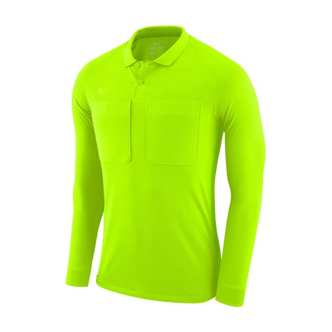 Maillot Arbitre Nike Manches Longues AA0736 703 Jaune fluo Noir