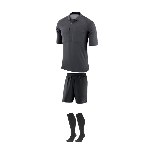Tenue Arbitre Nike Manches Courtes AA0735 AA7037 060 Anthracite Noir
