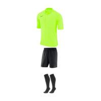Tenue Arbitre Nike Manches Courtes AA0735 AA7037 703 Jaune fluo Noir