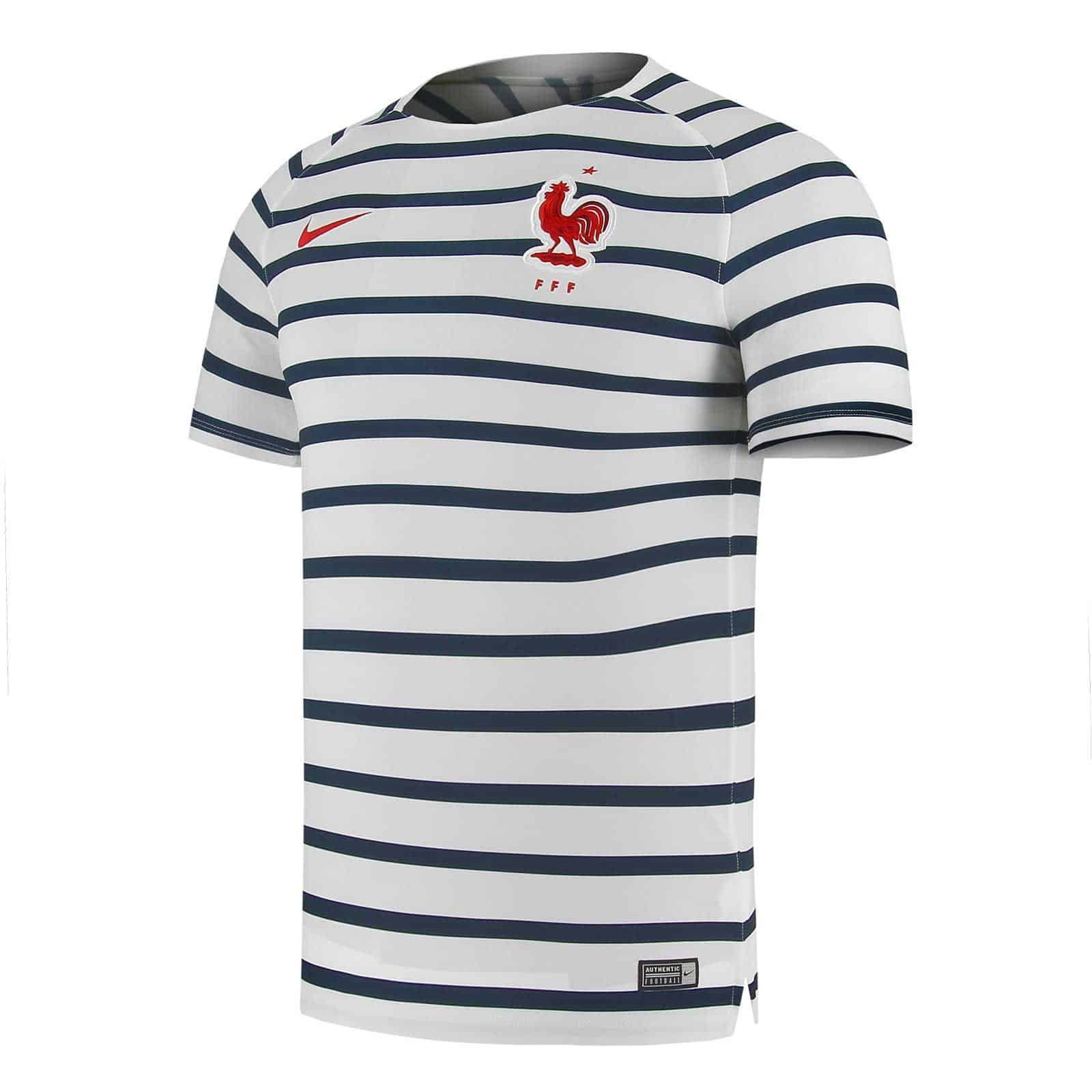 Sports Maillot • Shop Fff Equipe De France Co Nike Marinière wZF4w