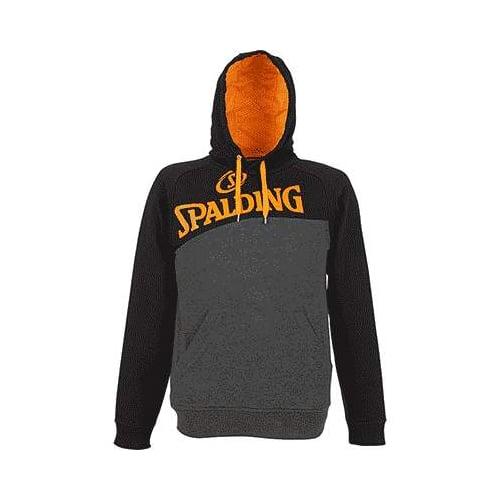 Sweat a capuche Spalding Street 300600302 Gris fonce Noir Orange fluo