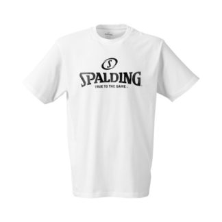 T-shirt Spalding Logo 300201002 Blanc Noir