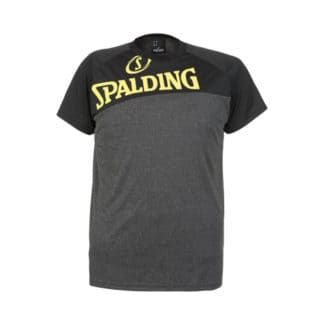 T-shirt Spalding Street 300600103 Gris fonce Noir Jaune fluo