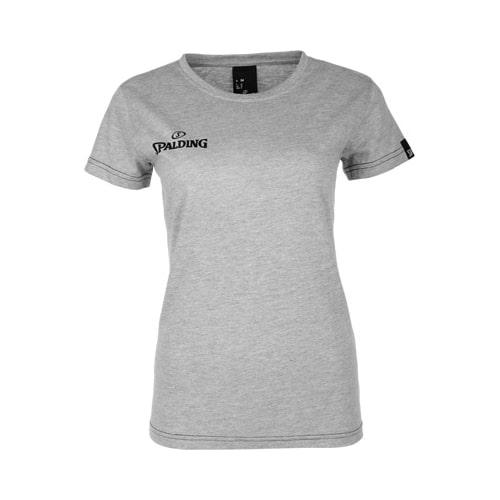 T-shirt Spalding Team II Femme 300307503 Gris Noir.