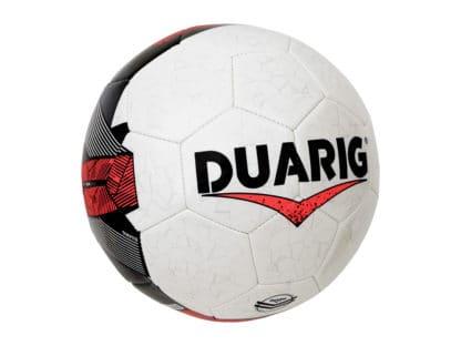 Ballons de foot Duarig Calao taille 4 blanc rouge