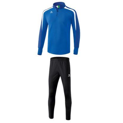 Survetement Erima Liga 2 0 entrainement Bleu royal Blanc 1261807 3100706