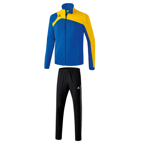 Survetement en polyester Erima Club 1900 2 0 Bleu royal Jaune 1020709