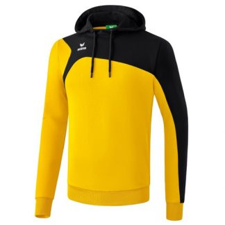 Sweat a capuche Erima Club 1900 2 0 Jaune Noir 1070736
