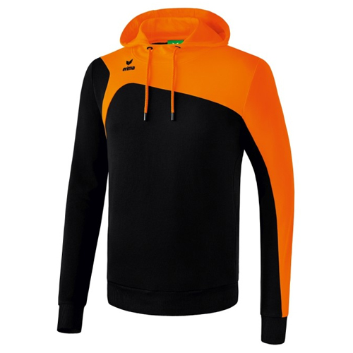 Sweat a capuche Erima Club 1900 2 0 Noir Orange 1070738