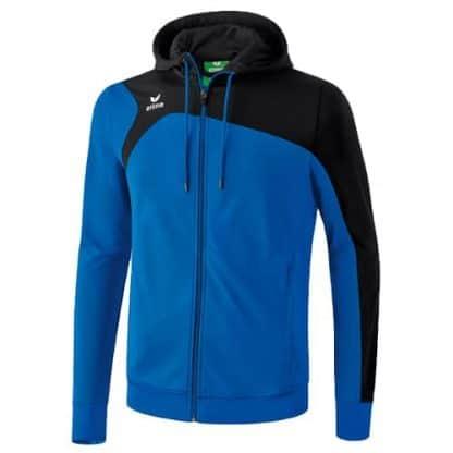Veste d'entrainement Erima Club 1900 2 0 avec capuche Bleu royal Noir 1070702