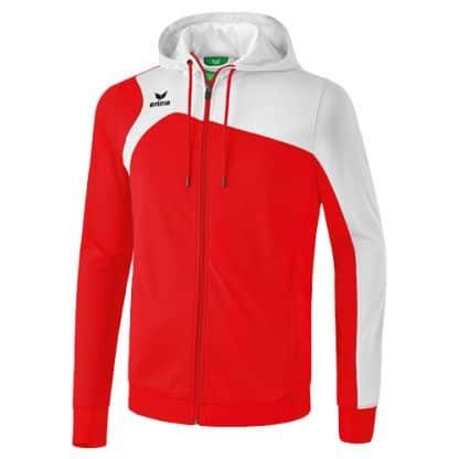 Veste d'entrainement Erima Club 1900 2 0 avec capuche Rouge Blanc 1070710