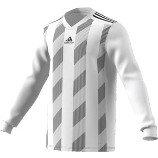 Maillot Adidas Striped 19 ML Blanc Noir DP3210
