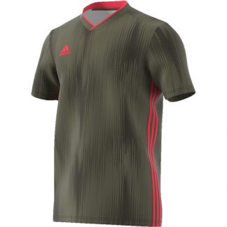 Maillot Adidas Tiro 19 Raw Khaki Shock Red DP3530
