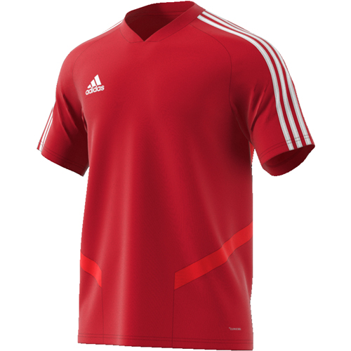 Maillot d'entrainement Adidas Tiro 19 D95944 Rouge Blanc