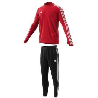 Survetement Adidas Tiro 19 entrainement D95939 D95961 Rouge Blanc