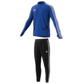 Survetement Adidas Tiro 19 entrainement DT5277 D95958 Bleu Blanc