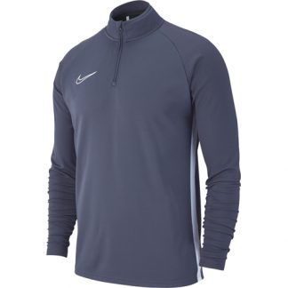 Sweat demi zip Nike Academy 19 AJ9094 060 Gris Blanc