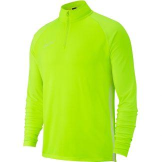 Sweat demi zip Nike Academy 19 AJ9273 702 Jaune fluo Blanc