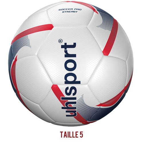 Ballon de match Uhlsport Soccer Pro Synergy Blanc Marine Rouge fluo 100166801