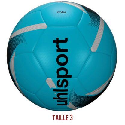 Ballon d'entrainement Uhlsport Team Taille 3 Bleu ciel Noir Argent 1001674