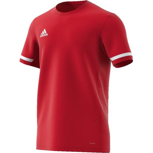 Maillot d'entrainement Adidas Team 19 DX7242 Rouge Blanc
