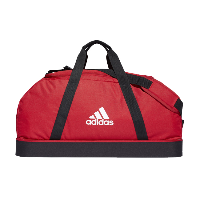 Sac ADIDAS Tiro Dufflebag Bottom Compartment taille L Rouge Blanc GH7256