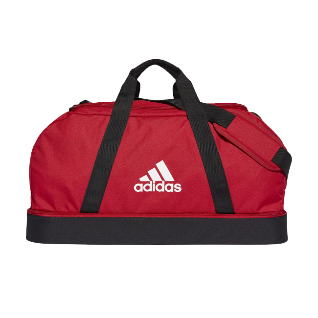 Sac ADIDAS Tiro Dufflebag Bottom Compartment taille M Rouge Blanc GH7272