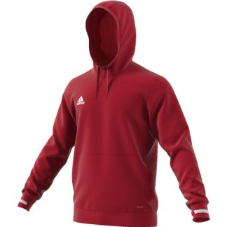 Sweat a capuche Adidas Team 19 DX7375 Rouge Blanc