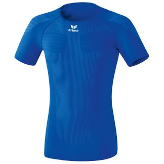 T-shirt de compression Erima manches courtes Bleu royal Blanc 2250721