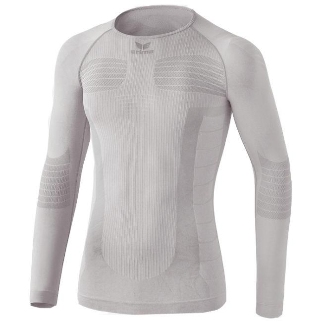 T-shirt de compression Erima manches longues Blanc Noir 2250719
