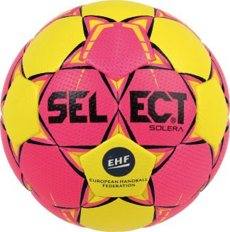 ballon-handball-select-solera-taille-2-rose-jaune