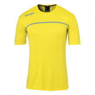Maillot Kempa Emotion 2 0 poly Jaune citron Dove bleu 200318406