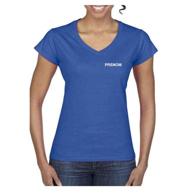 T-shirt FEMME bleu Elan Gymnique Courbevoie GN647