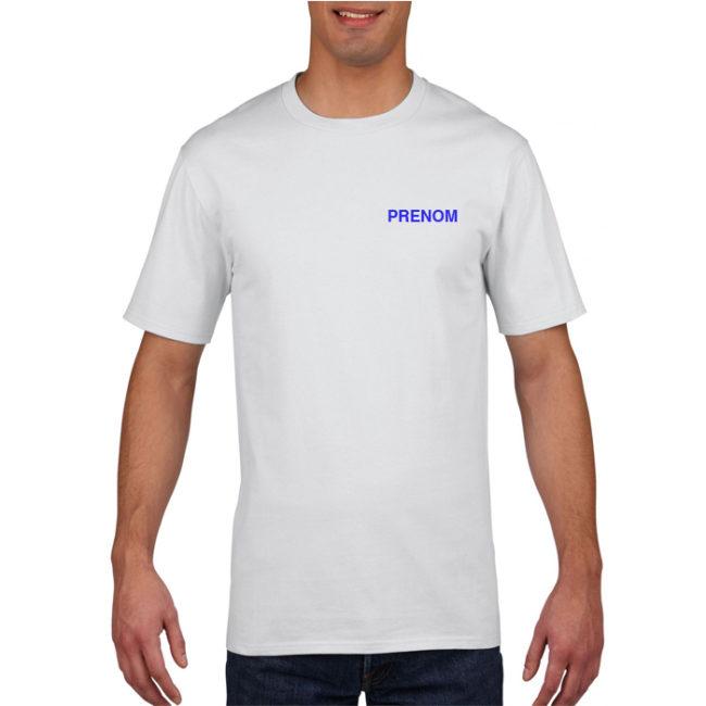 T-shirt HOMME blanc Elan Gymnique Courbevoie GN410
