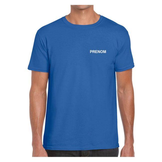T-shirt HOMME bleu Elan Gymnique Courbevoie GN640