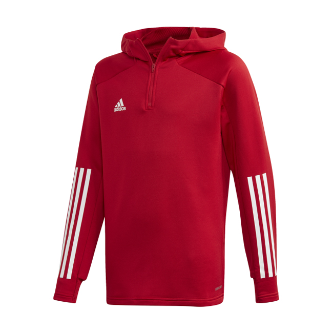 Sweat a capuche ADIDAS Condivo 20 rouge