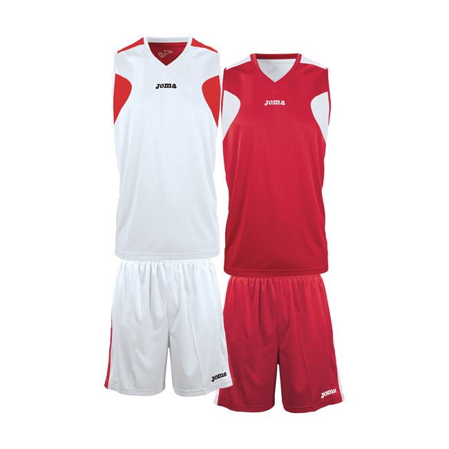 Ensemble Joma basket reversible 1184 Rouge Blanc
