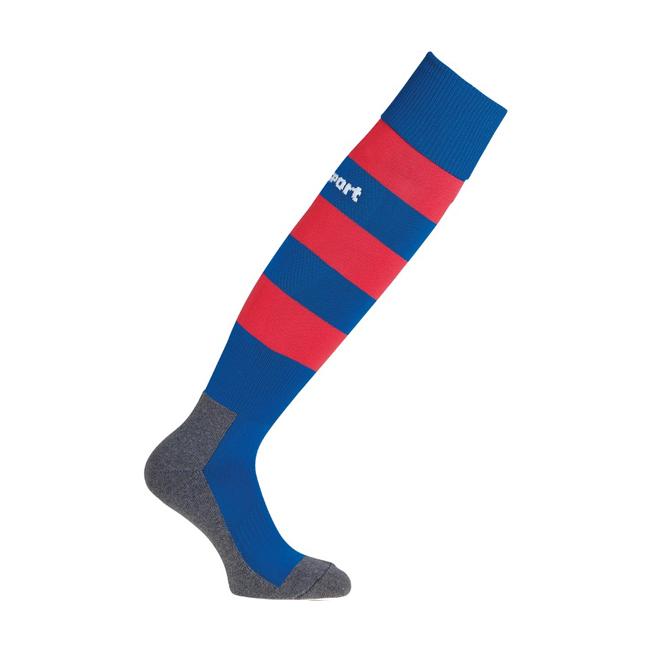Chaussettes Uhlsport Team Pro Essential Stripe Bleu azur Rouge 1006100